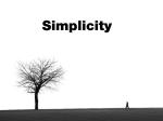 semplicità